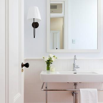 Baby blue textured bathroom wallpaper design ideas for Textured wallpaper for bathroom
