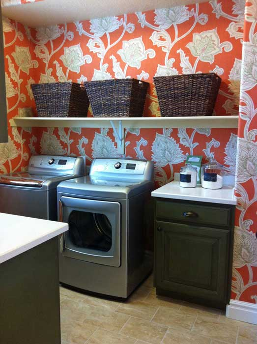 Laundry Room Wallpaper Best Thibaut Cypress Orissa Wallpaper  Transitional  Laundry Room Decorating Design