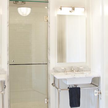 2 Leg Marble Washstand, Transitional, bathroom, Scott Lyon & Company
