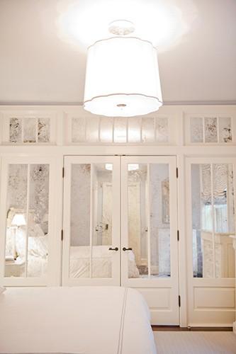 Antiqued Mirrored Doors Contemporary Bedroom Christina Murphy Interiors