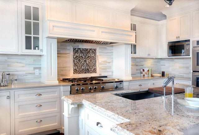 Bianco Romano Granite Contemporary Kitchen Enviable Designs