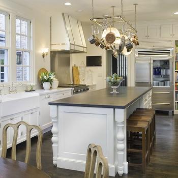 Kitchen Island Pot Rack, Transitional, kitchen, Munger Interiors