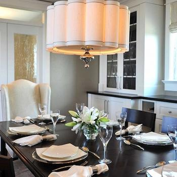 Scalloped Chandelier, Contemporary, dining room, Enviable Designs