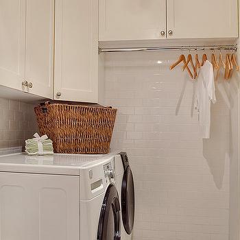 White Laundry Room, Contemporary, laundry room, Studio 212 Interiors