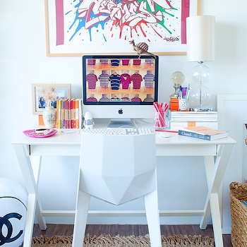 X Base Desk Contemporary Bedroom Taylor Hannah Architect