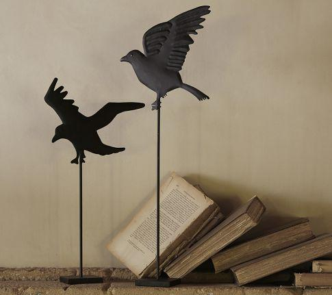 Metal Crow On Stand Pottery Barn