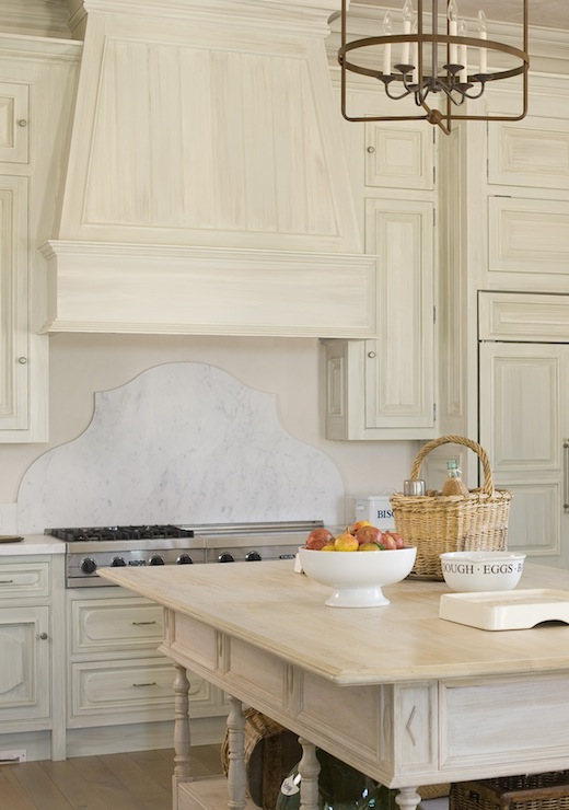 White Washed Kitchen Cabinets - French - kitchen - Phoebe Howard
