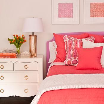 Coral Bedding, Contemporary, girl's room, Phoebe Howard