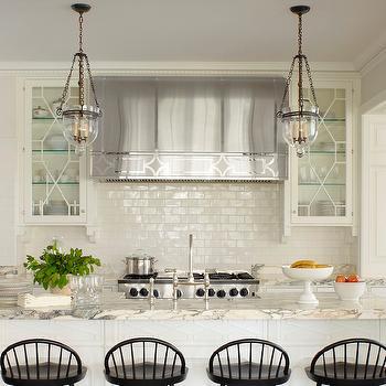 off white stone kitchen backsplash design ideas