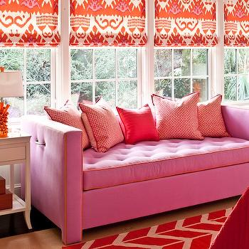 Pink And Orange Geometric Rug Design Ideas