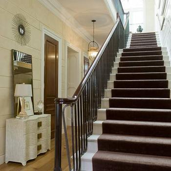 Chocolate Brown Stair Runner, Cottage, entrance/foyer, Phoebe Howard
