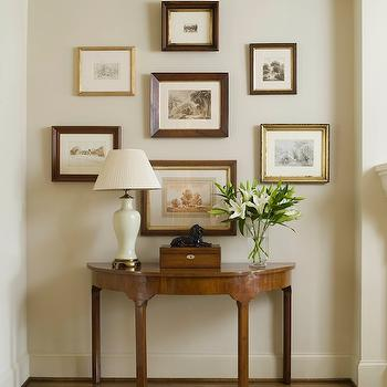 Demilune Console Table, Traditional, entrance/foyer, Phoebe Howard