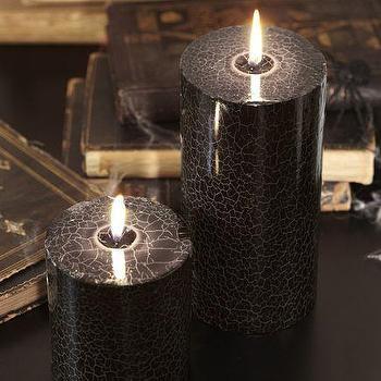 Crackle Web Pillar Candles, Pottery Barn