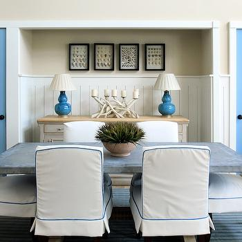 Slipcovered Dining Chairs, Cottage, dining room, Phoebe Howard