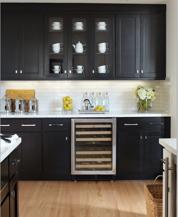 Kitchen Design Ideas For Small Kitchens November 2012: Black Kitchen Cabinets With Marble Countertops