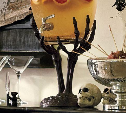 Skeleton Hand Drink Dispenser Stand Pottery Barn
