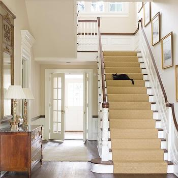 Stair Runner Transitional Entrance Foyer Christina