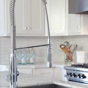 Instant Hot Water Faucet, Contemporary, kitchen, Benjamin Moore Super White, Urrutia Design