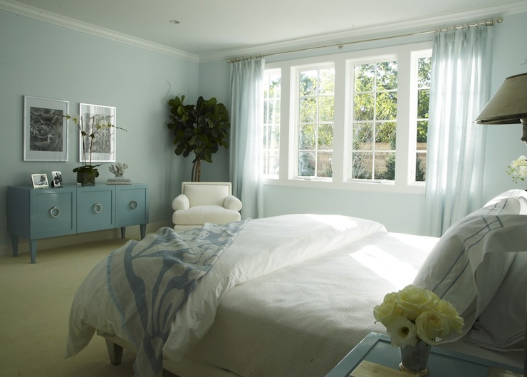 Chic Blue Paint Chic Soothing Blue Bedroom