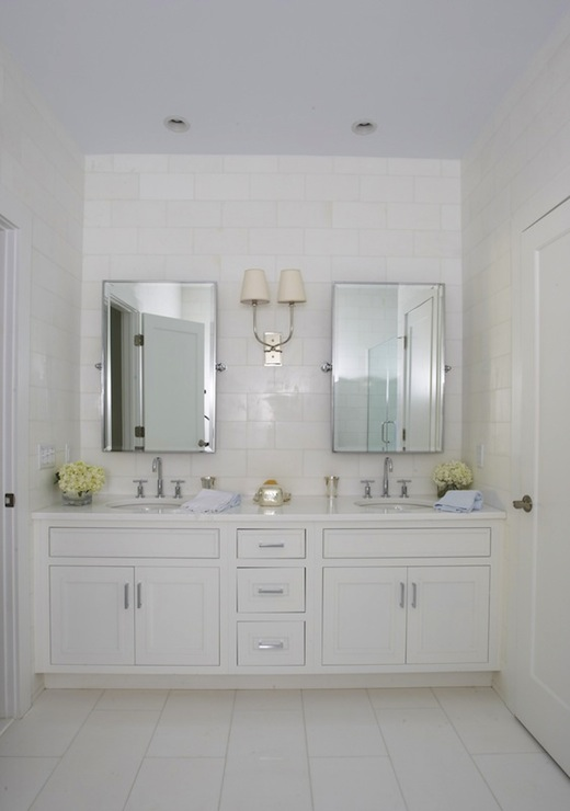 Built In Double Vanity Transitional Bathroom Lynn