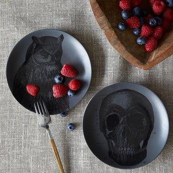 Spooky Canape Plates, west elm