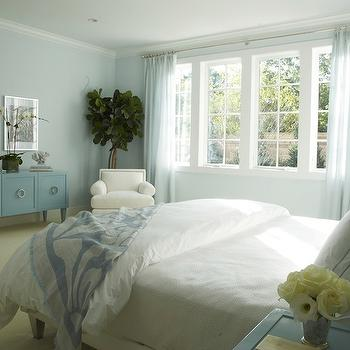 Blue Bedroom, Cottage, bedroom, Lynn Morgan Design