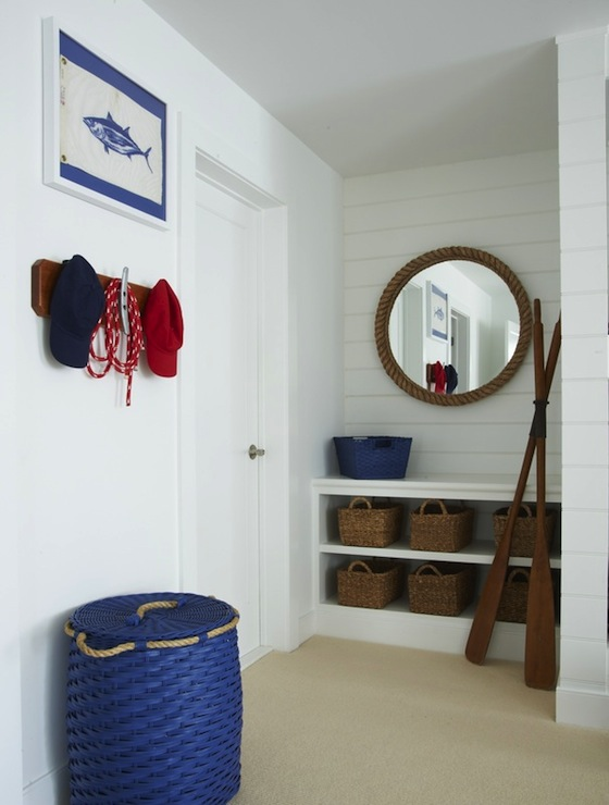 White and Blue Boys Room view full size. Nautical Boys Rooms Design Ideas