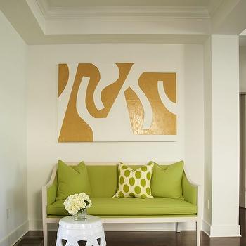 Green Settee, Contemporary, entrance/foyer, Lynn Morgan Design