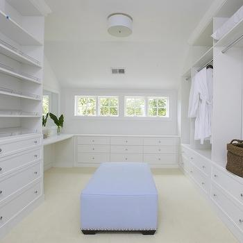 Ottoman In Closet Design Ideas
