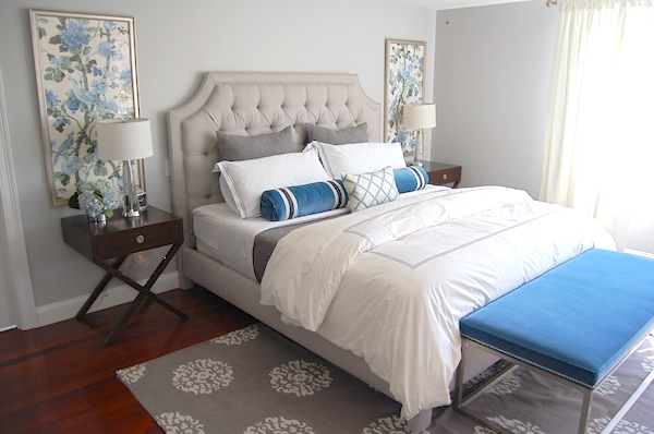 Contemporary Blue and Gray Bedroom - Contemporary - Bedroom