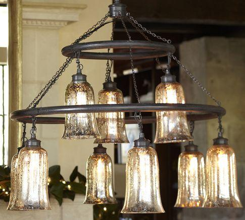 Brantley Mercury Glass Chandelier Pottery Barn