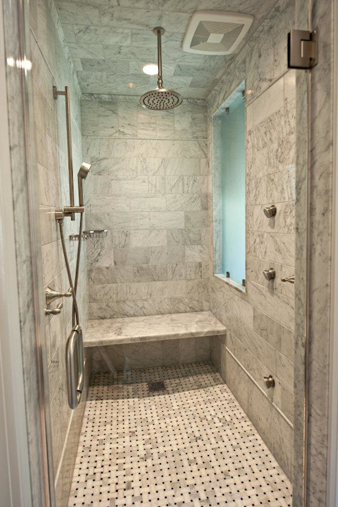 Marble showers on pinterest marble bathrooms cultured marble shower - Marble Shower Modern Bathroom The Wills Company