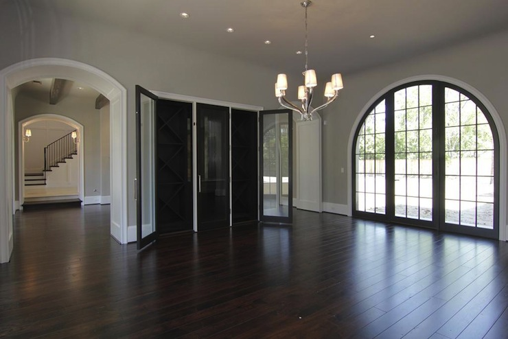 Built In Wine Rack View Full Size Gorgeous Modern French Gray Dining Room