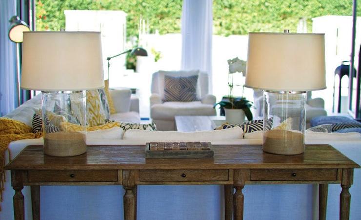 Sofa Table Transitional living room Jennifer Worts Design