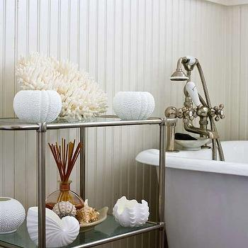 Polished Nickel Bathroom Etagere Design Ideas
