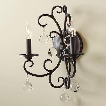 Paned Glass Wall Candle Sconce Pottery Barn