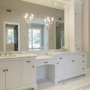 Off White Cabinets, Transitional, bathroom