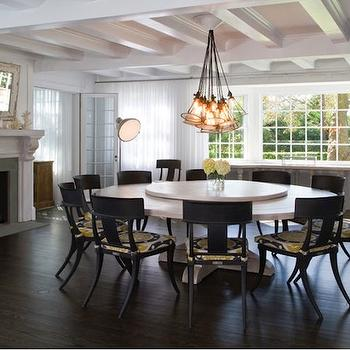 Round Dining Table Seats 10, Contemporary, dining room, Chango & Co.