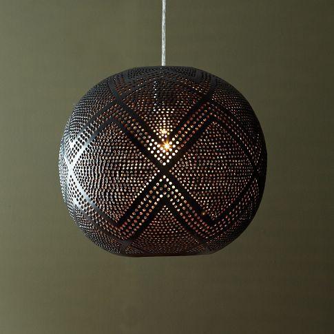Perforated Globe Pendant Diamond West Elm