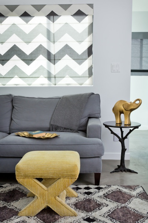 Gray and Yellow Rooms - Contemporary - living room - House of Honey