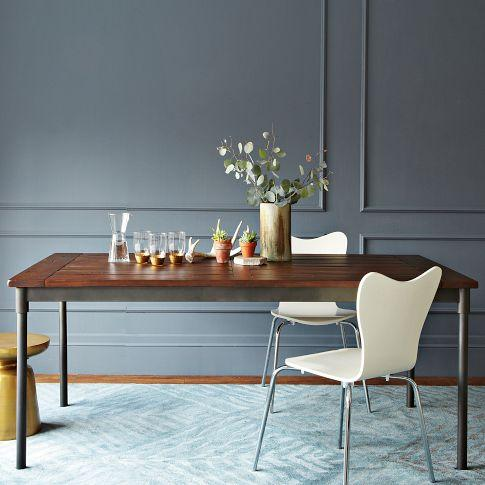 Mix + Match Table   Steel Base / Solid Wood Top | West Elm