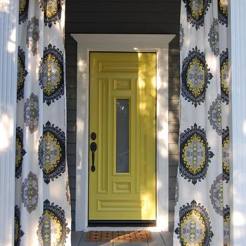 Yellow Front Door, Cottage, porch, House of Honey