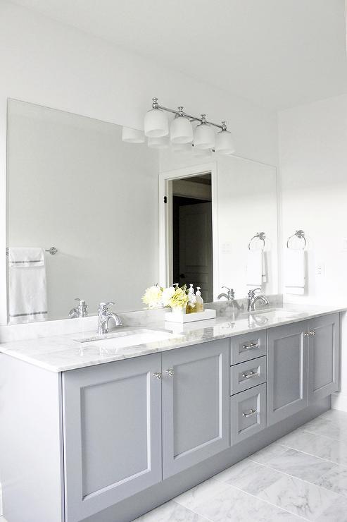 Gray Cabinets Contemporary Bathroom Benjamin Moore