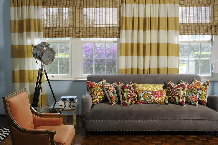 Curtains Ideas brown white striped curtains : Horizontal Striped Curtains Design Ideas