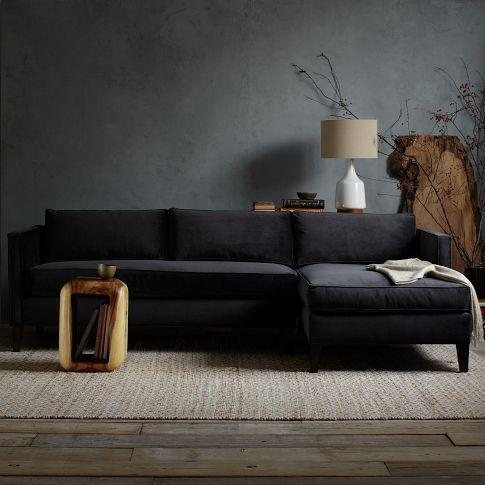 Dunham Sectional - Box Cushion - west elm : west elm bliss sectional - Sectionals, Sofas & Couches