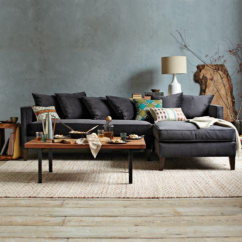 Dunham Sectional - Toss Back - west elm : west elm bliss sectional - Sectionals, Sofas & Couches