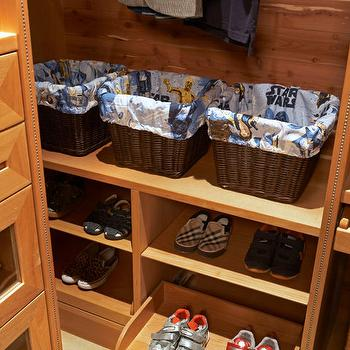 Closet Pull Out Shoe Cubbies Design Ideas