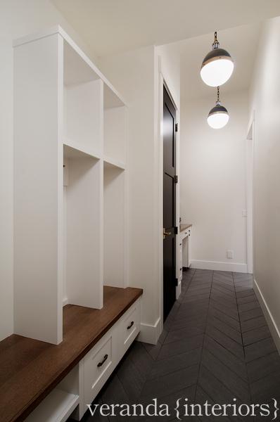 Black And White Cement Mudroom Floor Tiles Design Ideas