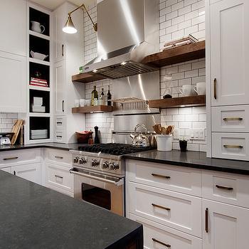 Floating Shelves, Contemporary, kitchen, Veranda Interiors