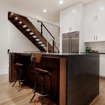 Industrial Bar Stools, Contemporary, kitchen, Veranda Interiors
